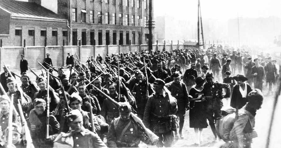 Військо Польське вирушає на більшовицький фронт. 1920 р.