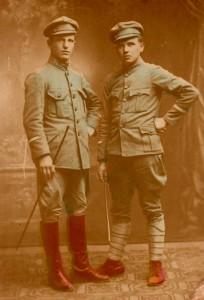 Старшини УГА. Розмальоване фото. 1920-і рр.