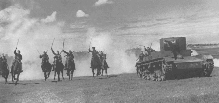 Радянська кавалерія на маневрах, 1930-ті роки
