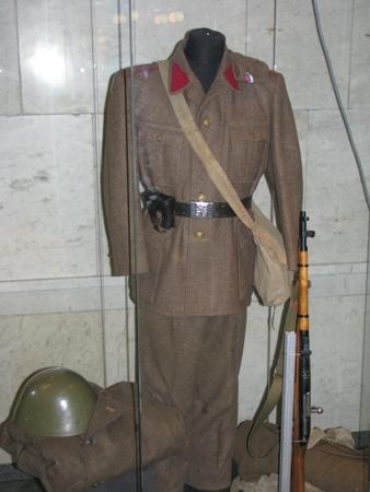 Уніформа військовослужбовця словацької армії періоду повстання. 1945 р.
