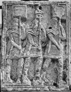 Adamklissi. Tropaeum Traiani, metope # XLI. 108 AD.