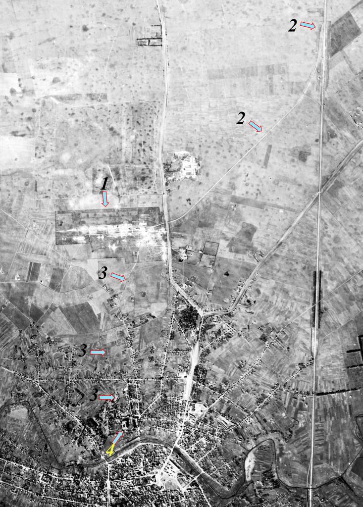 Фрагмент аерофотозйомки Ніжина. Жовтень 1943.