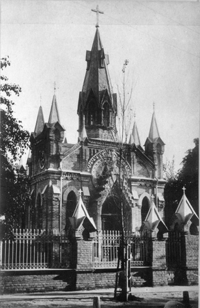 Ніжинській костьол. Фото початку ХХ століття з фондів Ніжинського музею.