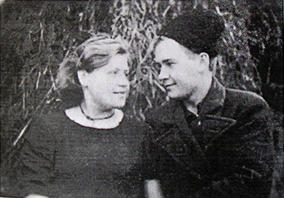 Партизани Петро Крапив'янський та Ольга Гарковець.  1943 рік.