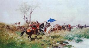 Юзеф Брандт, Атака кавалерії