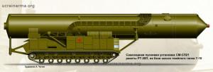 Самохідна пускова установка СМ-СП21 для ракети РТ-20П на базі шасі важкого танка Т-10