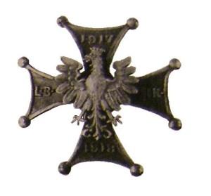 Нагрудний знак Легкої бригади 3-го Польського корпусу. 1918 р.