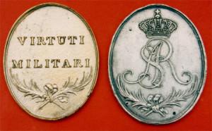 Знак ордена «Віртуті Мілітарі» 1792 рік