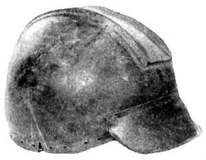 Скіфський шолом з некрополю Німфея, сер. V ст. до Р.Х. (перероблений з грецького шолому іллірійського типу)