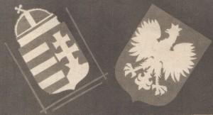 Герби міжвоєнних Угорщини та Польщі