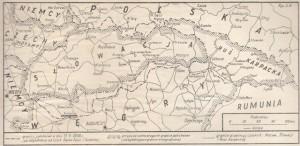 Польська мапа розділеної Чехословаччини, опублікована у журналі 1938 року