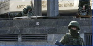 Російський солдат без пізнавальних ознак у Криму. 27.02.2013 р.
