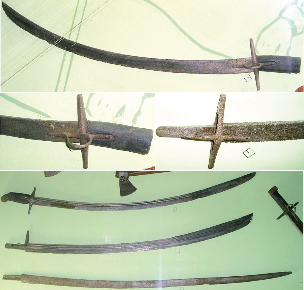 Рис. 27. Шаблі з розкопок Берестецької битви, музей у Рівному
