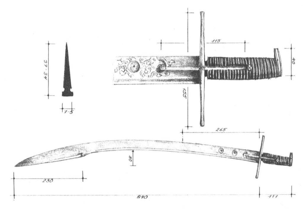 Рис. 31. Угорсько-польська шабля тип ІІ, початок XVII ст. [4]