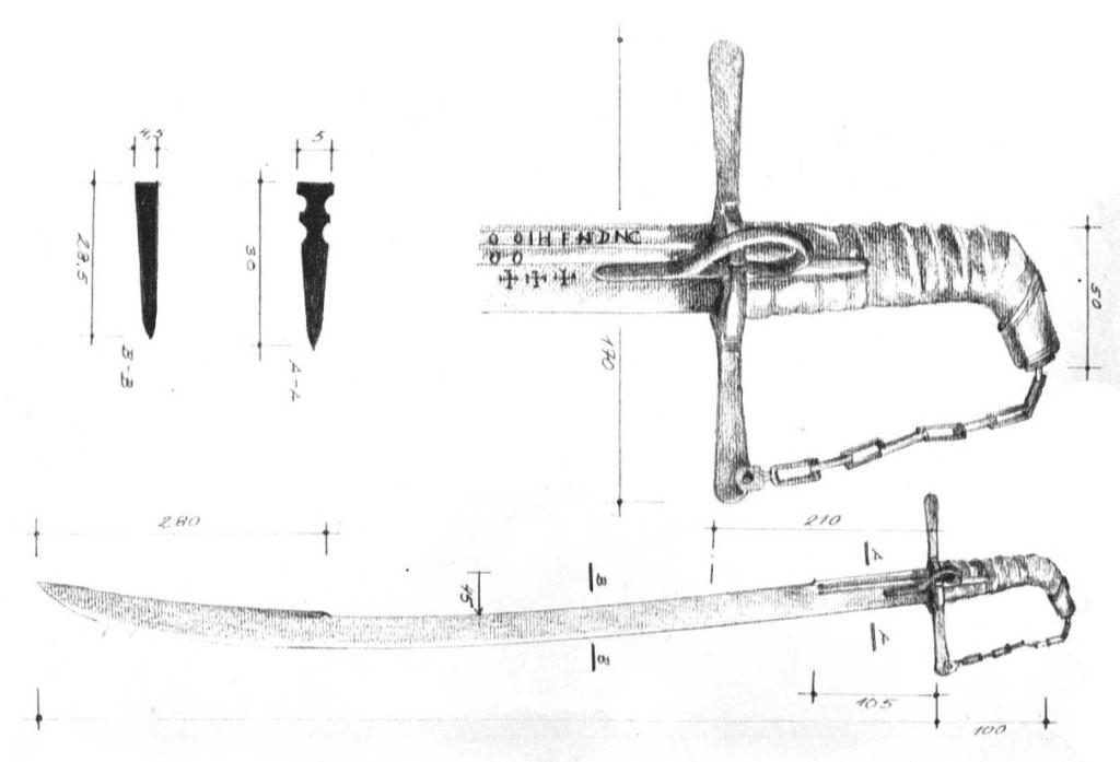 Рис. 34. Угорсько-польська шабля тип ІІІ, початок XVII ст. [4]