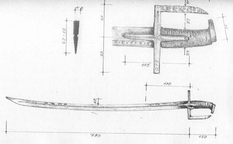 Рис. 35. Угорсько-польська шабля тип ІІ, початок XVII ст. [4]