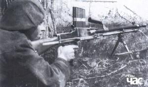Румунський кулеметник на кордоні з СРСР