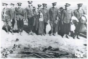 Полонені румунські прикордонники. Бессарабія, червень 1940 р.