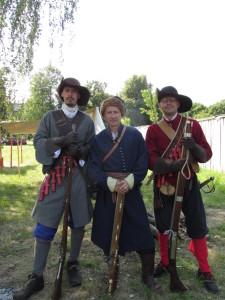 Гетьманські мушкетери та реєстровий козак часів Конотопської битви 1659 р.