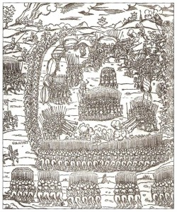 Битва під Обертином 1531 р. Гравюра.