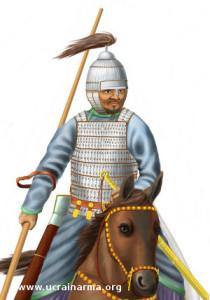 Знатний тюркський воїн. VI ст.  Малюнок автора